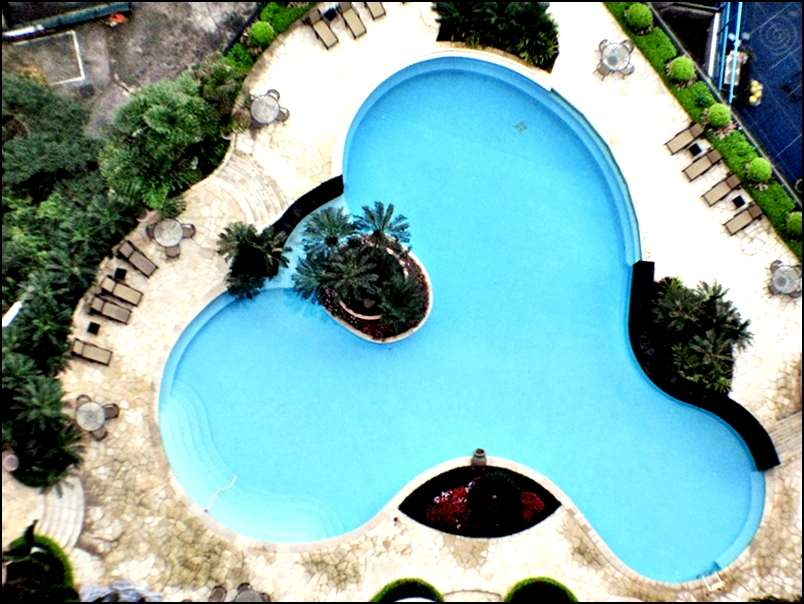 Dynasty court mid levels central apartment for sale executive homes - Rectangle pool aerial view ...